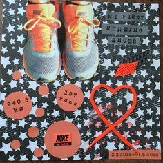 I retired my first running shoes. They were totally devastated, so I cut part of them,.take of the shoelaces and ma. Nike Free, Running Shoes, Nike Air, Sneakers Nike, Scrapbook, Creative, Runing Shoes, Nike Tennis, Scrapbooking