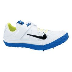 CLICK IMAGE FOR FULL DESCRIPTION ABOUT Men's Nike Zoom HJ III Track and Field Shoe - White/Royal 10 | SHORT DESCRIPTION: Men's NIKE ZOOM HJ - Rely on the men's Nike Zoom HJ to propel your high jump to new heights. Designed for the experienced, competitive high jumper who wants it all: cushioning, support, traction. Eleven, lightweight spikes add even more traction to… more » CLICK IMAGE