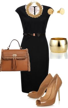 Sophisticated and professional work outfit, get the elegant tote bag