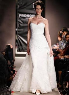 White Lace Sweetheart Strapless Womens Spring 2012 Wedding Trends