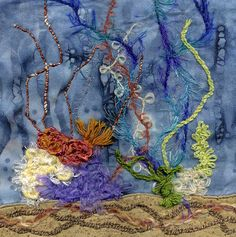 'Under The Sea' Art Quilt Square | Flickr - Photo Sharing!