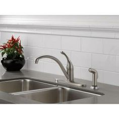 Delta Collins Single-Handle Side Sprayer Kitchen Faucet in Stainless-440-SSWE-DST at The Home Depot