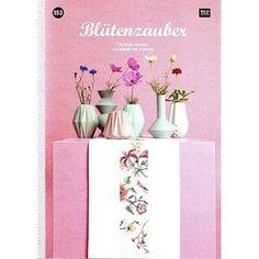 """Das Stickbuch No. 153 """"Blütenzauber"""" von Rico Design wartet mit frühlingshaften Stickideen auf. #Kreuzstich Kreativ"""