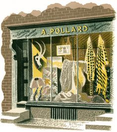 Eric Ravilious - Furrier by St. Jude's, via Flickr
