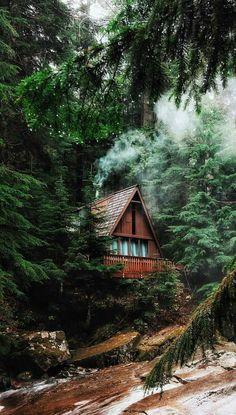 Beautiful mountain cabin