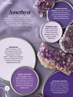 Amethyst-my birthstone. maybe that's why i prefer purple to pink