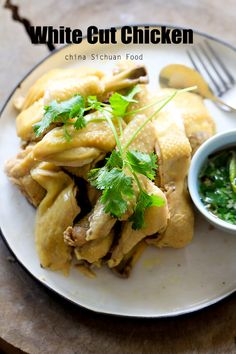 Chinese Poached Chicken | Recipe using the immersion method. I tend to prefer this method because the breast stays more tender, but there is a danger of undercooking the chicken if you don't get the timing right.