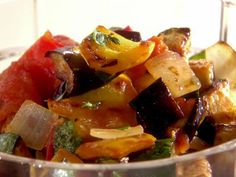 Ratatouille Recipe by Melissa D'Arabian; since I don't care for peppers, I substituted mushrooms; this was yummy