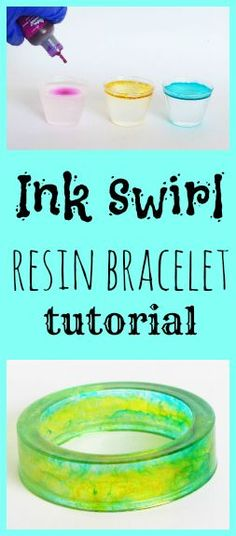 Resin Obsession blog:  DIY ink drop resin bangle bracelet tutorial