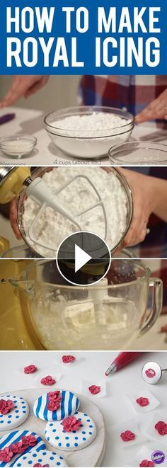 Watch how to make royal icing and learn how to use this recipe to make flowers, rosettes, and other decorations. Also in this video, you will learn how to make the right consistency of royal icing that's good for brush embroidery and for flooding cookies.