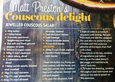 Matt Preston's couscous delight