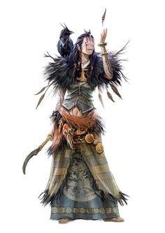 "madcat-world: "" Heros et dragons - Druidess - BGK-Bengiskhan """