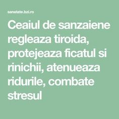 Ceaiul de sanzaiene regleaza tiroida, protejeaza ficatul si rinichii, atenueaza ridurile, combate stresul Alter, Good To Know, Math Equations, Health, Medicine, Plant, Health Care, Salud