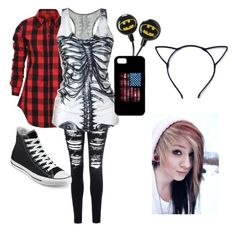 """""""First page tag"""" by reganbracey ❤ liked on Polyvore featuring Glamorous and Converse"""