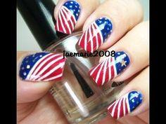 ongle américain! Independence day nail art ! #nails #redandblue #independencedaynails
