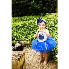 Cookie Monster Tutu Cookie Monster Tank Ribbon Tutu Cookie Monster over the top bow infant girl clothes found on Polyvore