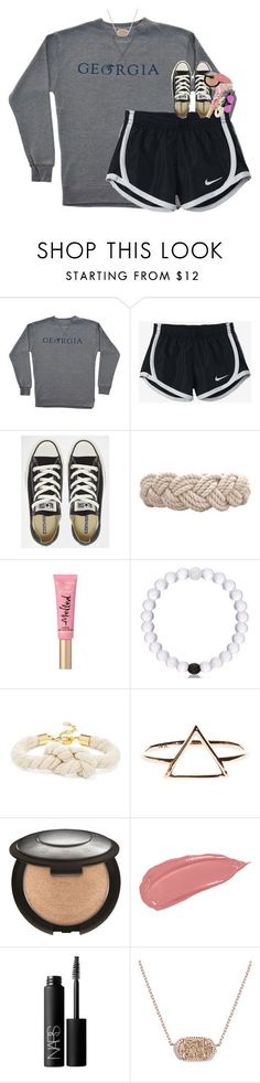 """school tomorrow:(("" by classynsouthern ❤ liked on Polyvore featuring NIKE, Converse, Swell, Too Faced Cosmetics, BaubleBar, NARS Cosmetics, Kendra Scott and Ray-Ban"