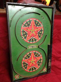 Antique Lindstrom's Gold Star Bagatelle Game