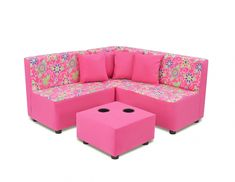 Big kid style comes to the playroom or living room with the Kangaroo Trading Co. Sectional Sofa Set - Daisy Doodle with Passion Pink . Cheap Furniture, Sofa Furniture, Online Furniture, Discount Furniture, Garden Furniture, Steel Furniture, Furniture Companies, Furniture Stores, Furniture Outlet
