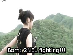 Park Bom bungee jumping #2NE1gif