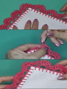 orillas a crochet de 2 vueltas Crochet Doilies, Crochet Lace, Crochet Edging Patterns, Crochet Ideas, Macrame, Crochet Necklace, Rugs, Crafts, Crochet Things