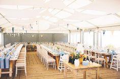 Wedding reception tables for a beach wedding - ALI & ED   THE GALLIVANT HOTEL   Albert Palmer Photography