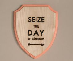 """""""or whatever""""!  Wood Burned Shield Wall Sign by FableAndLore on Etsy"""