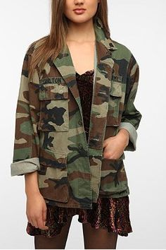 Urban Renewal Vintage Oversized Camo Jacket..loving the camo look