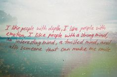 People with depth.