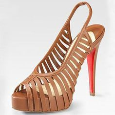 shoes on Pinterest | Slingbacks, Christian Louboutin and Peep Toe ...