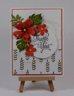 Botanical Blooms Card by Kristi @ www.stamingwithkristi.com