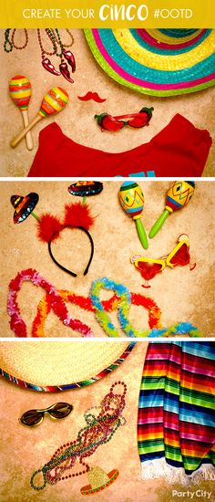 The hottest Cinco de Mayo accessories are at Party City! Want to be best dressed? Don a vibrant poncho, serape or wrap. Then top off your ensemble with one of our sombreros, headbands and head boppers. Going for a more laid back vibe? Show you're still ready to fiesta with beads, shades, mustaches and more.
