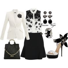 """Black And White"" by eunice-perez-de-vega on Polyvore"