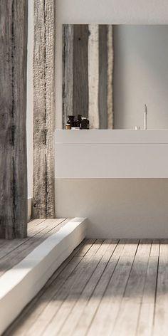 Piet Boon design badkamer kranen http://bycocoon.com | Piet Boon® by COCOON modern design bathroom faucets in brushed stainless steel | inox tapware | bathroom design | minimalist bathroom | combined with modern solid surface COCOON vanity | villa & hotel interior design | projectdesign | Dutch Designer Brand COCOON