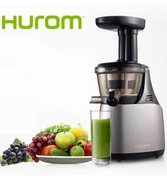Hurom Stainless Steel Automatic Fruit and Veggie Juicer