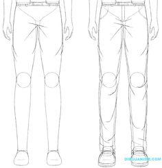 Como dibujar a un Hombre anime (rostro y cuerpo) Pasó a paso   Dibujanime!
