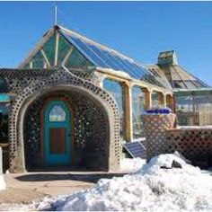 Earthships! I would live in one. So awesome..