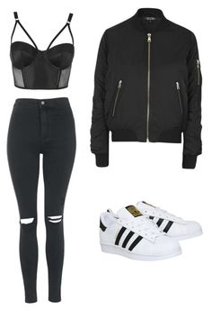 """""""Untitled #5"""" by lluviagb on Polyvore featuring Topshop and adidas"""