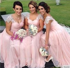 Bridesmaid Dress,Bridesmaid Gown,Cap Sleeve Evening Dress:
