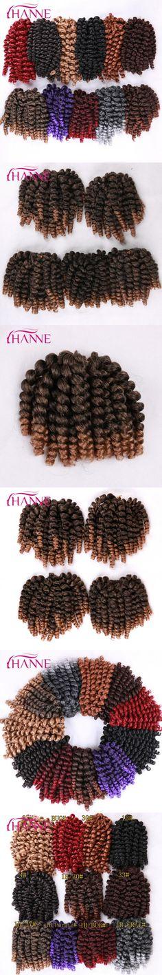HANNE 80g Jumpy Wand Curl Twist Crochet Braid Jamaican Bounce African Synthetic Braiding Hair Extension High Temperature Fiber