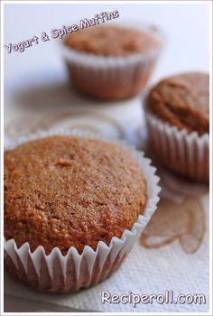 Vanilla Yogurt & Spice Muffins / Whole Wheat Yogurt Muffins Whole Wheat Muffins, Yogurt Muffins, Apple Pie Spice, Vanilla Yogurt, No Bake Desserts, Yummy Treats, Baking Recipes, Breakfast Recipes, Spices