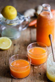 Juice med ingefära och citron