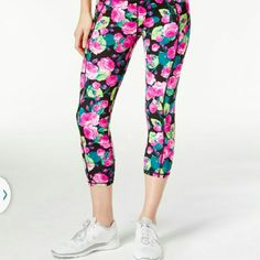 NEW- BETSEY JOHNSON Secret Garden Yoga Pants- MED Super girly capri yoga pants. Features a black waistband for a slimming effect.  BRAND NEW, NEVER WORN with original tags SIZE: MEDIUM  I work in L.A as a wardrobe stylist for film and television. All my items are authentic and come from high end boutiques or stores. Thanks! Betsey Johnson Pants