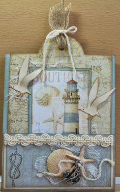Atc Cards, Card Tags, I Card, Nautical Cards, Beach Cards, Shabby Chic Cards, Handmade Tags, Sea Theme, Marianne Design