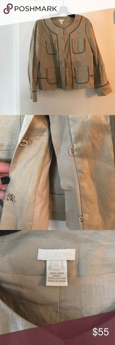 J Crew blazer/jacket Tailored, beautiful J crew linen jacket/blazer. Great neutral color. J. Crew Jackets & Coats Blazers