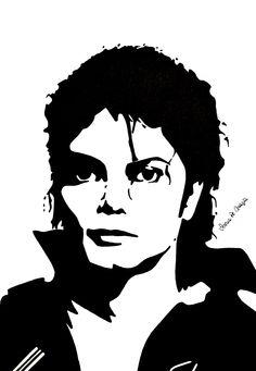 Michael Jackson stencil portrait by Serena De Grazia
