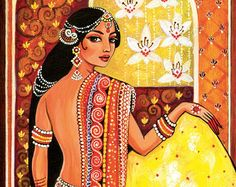 bollywood dance Indian dance beautiful Indian woman by EvitaWorks