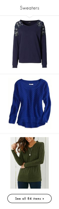 """""""Sweaters"""" by shlimazla ❤ liked on Polyvore featuring tops, hoodies, sweatshirts, shirts, sweaters, sweatshirt, blue lace shirt, urban sweatshirts, lace sweatshirt and jersey sweatshirt"""