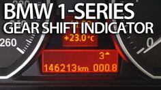 How to activate gear shift indicator in #BMW 1-Series #E81 #E82 #E87 #E88 #shiftlight