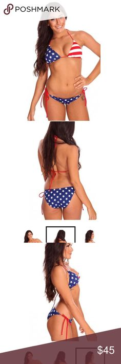 AMERICAN HONEY BIKINI SET Sold as a set! Price is firm. For lower pricing please check out my website {Www.shopcowboysandangels.com} My listings are from my boutique 🌵 New arrivals weekly! 🌵 I am passionate about my boutique, and can provide measurements, etc upon request! My items sell out FAST, but I do my best to restock our popular items❤️ Swim Bikinis